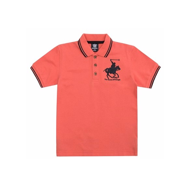 187b040144eb Mamasaid Πόλο μπλουζάκι για αγόρια πορτοκαλί Cargo Bay