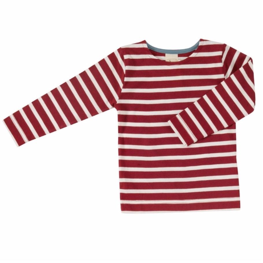 Οργανική παιδική μπλούζα κόκκινη ριγέ Pigeon - Mamasaid.gr 5873da37a5f