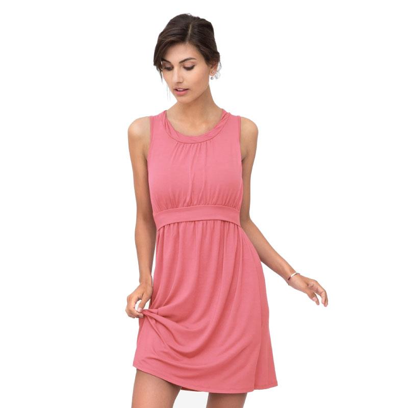 3220a75b5f1d Αμάνικο κοραλί φόρεμα θηλασμού από ίνες μπαμπού Milker - Mamasaid.gr