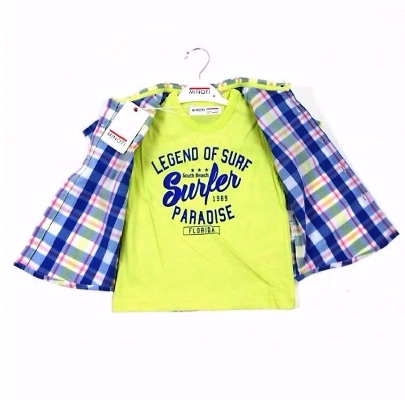 Minoti Baby Boy T-Shirt and Short Set.
