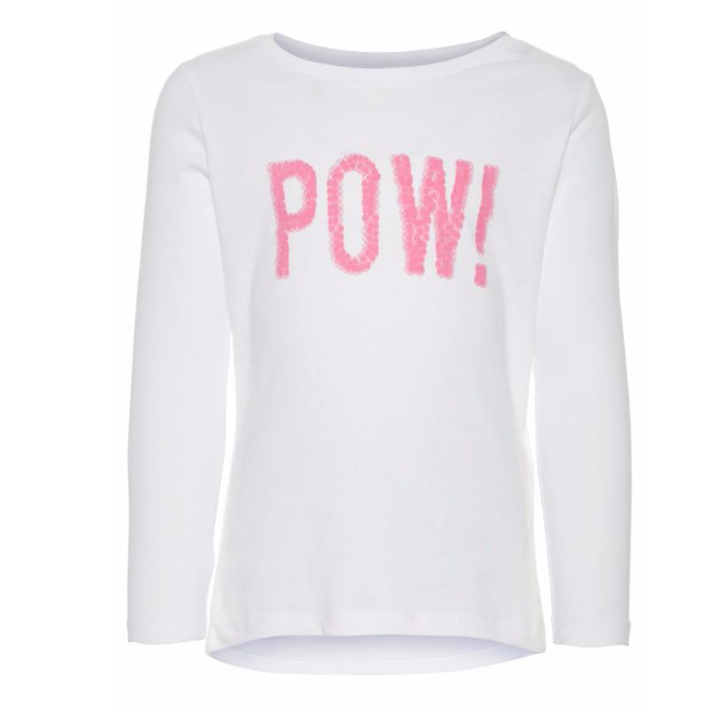 Mamasaid Μακρυμάνικη μπλούζα κορίτσι λευκή Pow Name It bc8ba8aad57