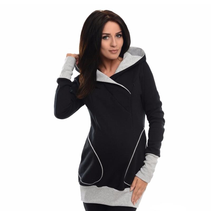 ce4219028a338 Pregnancy/nursing hoodie black Purpless - Mamasaid.gr
