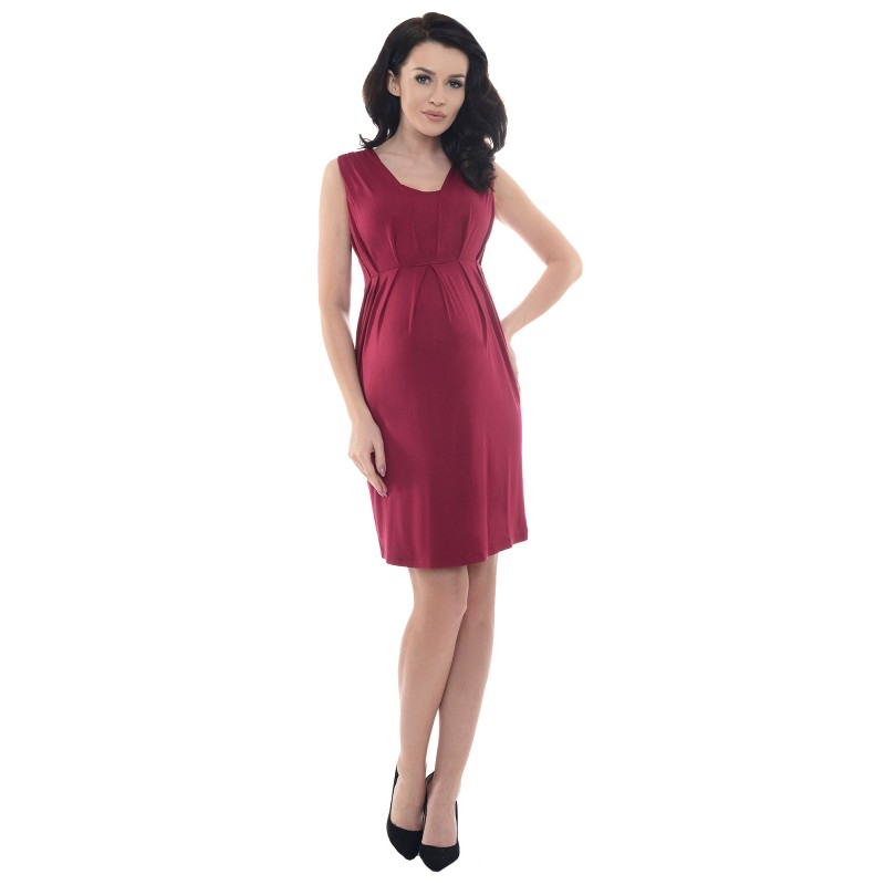 a12a248983a11c Sleeveless V Neck maternity dress Purpless - Mamasaid.gr